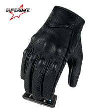 Motorcycle Gloves Goatskin Leather Touch Screen Men Women Moto Glove Electric Bike Luvas da motocicleta Os carros eletricos Sale