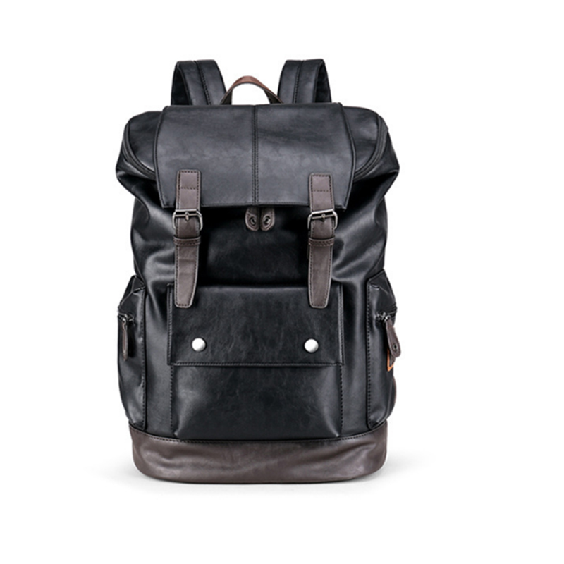 luxury Famous Brand Preppy Style pu Leather School Backpack For College Simple Design Men Casual Daypacks mochila backpacks<br>