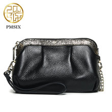 Pmsix 2017 New Min leather bag women Genuine cowskin Designer Deluxe/Black bags P410003-1