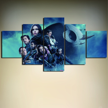 Unframed 5 Pieces Rogue One: A Star Wars Story Poster Print Wall Art Picture HD Painting on Canvas For Living Room Home Decor(China)