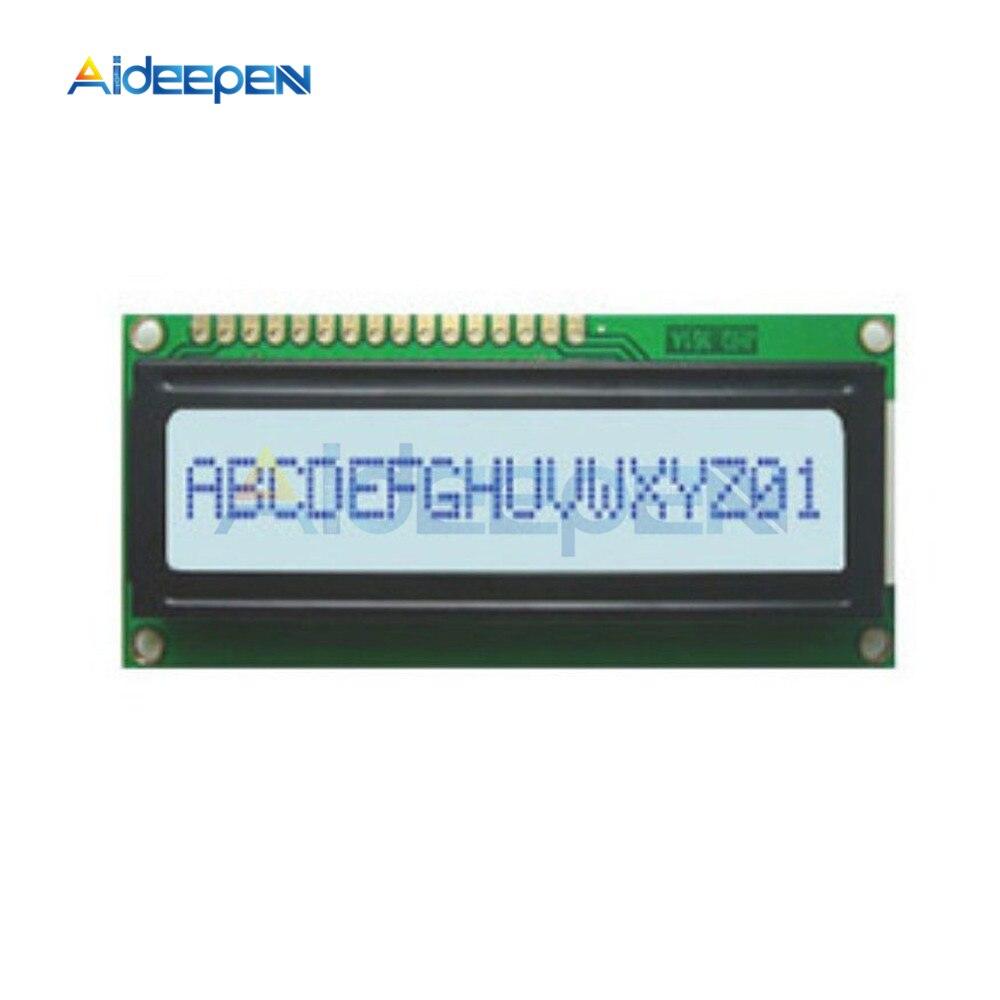1Pcs 5V 0802 Lcd Lcd Display Module Yellow 8X2 Character Raspber Lcm For Ardu gt
