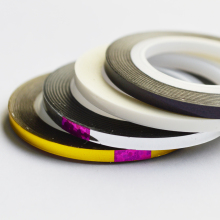1pcs 2mm 3mm Beauty Roll Stripping Sticker Foils nail Art Tape Line DIY New Silver/Gold/Black/ White Tools Manicure Tools NC125