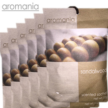 6PCS/lot Aromania Fresh Sandalwood Scented Sachet Fragrance Drawer Sachets Bag For Bedroom Car Flavor Fragrances Indian