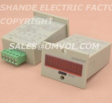 1-999999 digital counter meter 6 digits 5 terminals 110-220v  12-24v
