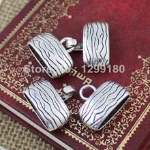 20sets/lot Antique Silver Fold Over Lobster Clasp For Necklace Bracelet Chain DIY Jewelry Parts 29mm Hole:17x5mm K01923