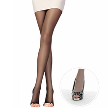 Buy Pretty Office Lady Womens open toe Sexy sheer Pantyhose Ultra-thin Tights Stockings Summer