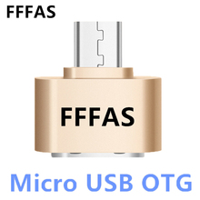 FFFAS 2.0 Alloy Android Micro USB OTG Cable Adapter Mini Converter for usb flash Drive Mouse keyboaed Hand Shank Card Reader PC(China)