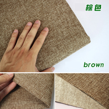 "Brown Coated Linen Fabric Sofa Cushion Fabirc DIY Craft Sewing Cloth Outdoor Linen Blend Fabric Upholstery 58"" wide -Per yard(China)"