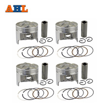 AHL 4 Sets +50 Bore 49.5 mm Piston & Piston Ring Kit for Suzuki GSX250 GSX250R GSF250 BANDIT 250 ACCROSS 913 GJ72A GJ73A GJ74A(China)