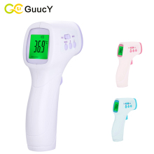 Lcd electronic digital infrared thermometer baby adult medical non-contact forehead body fever for milk reusable hand-held(China)