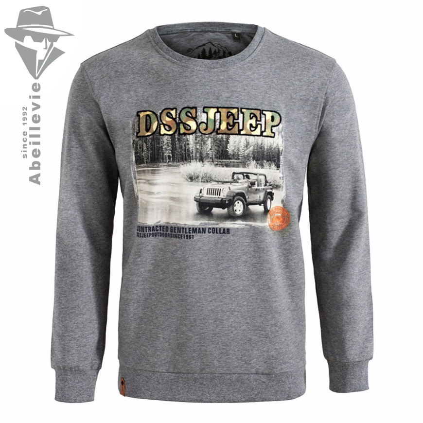 2017 Spring New Fashion Knit Crewneck Cotton Men Sweatshirt European USA Style Pullover Hoodies Print Sexy Men's Moletons DS0001