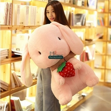 Dorimytrader Lovely 70cm Giant Soft Cartoon Bunny Stuffed Toy Pop Plush Anime Rabbit Doll Pillow Girl Gift 28inches DY61602(China)