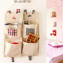 Cute Cartoon Hanging Organizers Storage Bag Door Wall Mounted Home Sundries Keys Hair Ornaments Comb Organizer Storage Bags