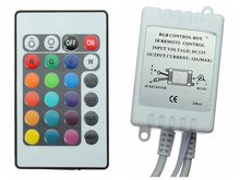 DC 12V 24 Keys IR Remote Controller / Wireless Control RGB Colors Dimmer For SMD3528 SMD5050 RGB LED Strip light