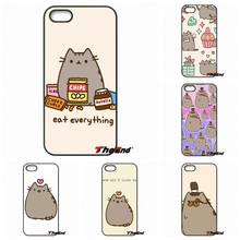 For iPhone 4 4S 5 5C SE 6 6S 7 Plus Galaxy J5 J3 A5 A3 2016 S5 S7 S6 Edge Funny Pusheen The Cat Gifs Cell Phone Cover Cases