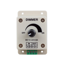 EWS PWM Dimming Controller for LED Lights,Ribbon, Strip,12 - 24 Volt(12V - 24V)8 Amp