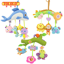 Baby Toys 0-12 Month Infant Stroller Hanging Cot Crib Mobile Rattles Teether Educational Dolls For Children Newborn Babies Kids(China)