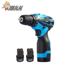 NIKALAI 16.8V Rechargeable lithium battery*2 charge cordless electrical drill household electric cordless screwdriver power tool