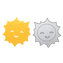 Sun Smile Style Cutting Dies Carbon Steel DIY Cutting Dies Stencil Scrapbooking for Album Book Photo Decorative Craft Card(China)