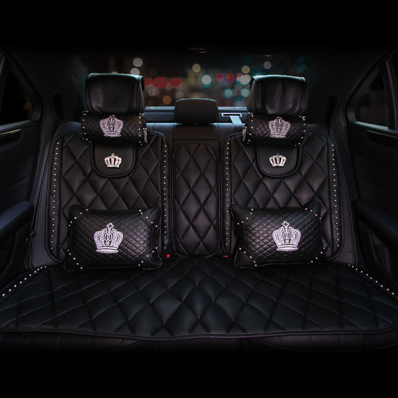 Leather-Car-Seat-Covers-Fashion-Crown-Rivet-Universal-Automobile-Seat-Cushion-Front-and-Rear-Mats-Car-Styling-3