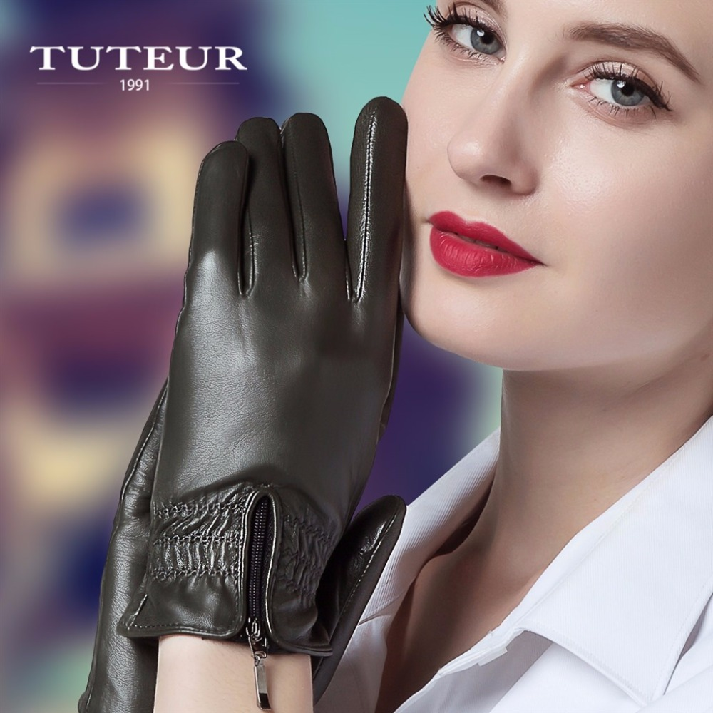 Ladies fashion leather gloves 15