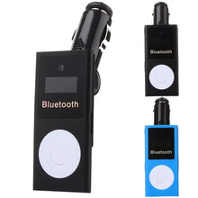 LCD Car Kit MP3 Transmissor FM Transmitter Bluetooth USB Charger Handsfree For Xiaomi Roidmi Samsung iPhone 7 BMW E46 Ford Focus(China)