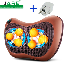 Jare multifunctional 6 heads home and car back waist neck cervical vertebra massager pillow body household massage cushion