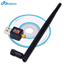 RSExplorer USB WiFi Wireless Adapter Network LAN Card 802.11n/g/b 150Mbps With Antenna For PC Desktop Laptop XP WIN7 Win8 Linux(China)