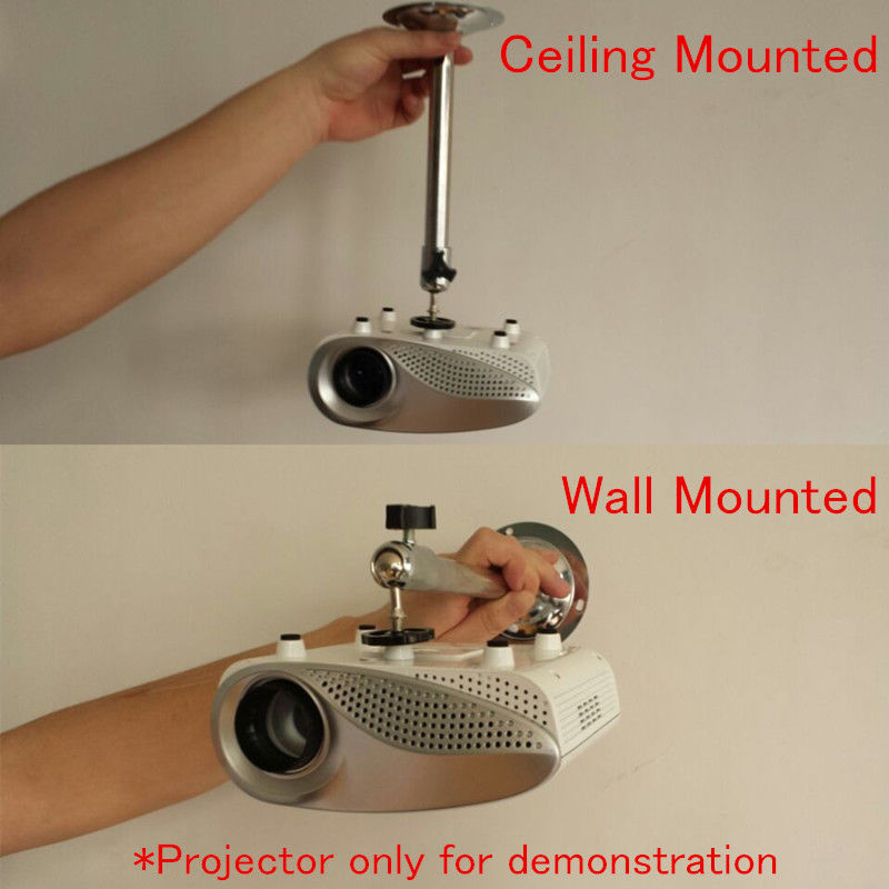1pc 22cm Universal Mini LCD DLP Projector Ceiling Wall Mount Portable Moving Metal Bracket Holder Stand Mayitr