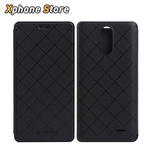 LEAGOO M5 Case Diamond Lattice Texture Horizontal Flip Cellphone Leather Case & TPU Cover, 5.0'' inch Mobile Phone Housing