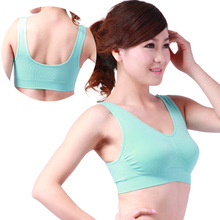 Seamless Leisure Bra Support Vest wire free Shaper bra body shape padded vest non-trace Sleeping bra(China)