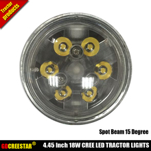 PAR36 LED Durable Spot Flood Trap Beam Tractor work Light Replace H4411 WL2116 Bulbs Round 4.5inch 18W led tractor lights x1pc