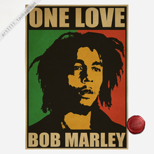 bar cafe decoration and combine shipping Vintage Style Retro Paper Poster Reggae music Bob Marley 42*30cm
