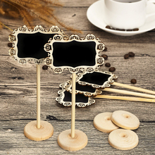 10pcs Mini Chalkboard Rectangle Chalkboards BLACKBOARDS ON STICK STAND DIY Direction Signs Party Decoration Supplies