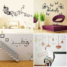 Creative wall stickers Inspirational Quotes/ firework / butterflies/home decor decoration Decals(China)