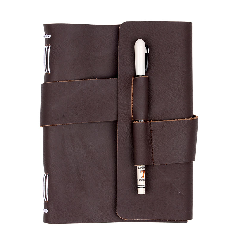 100% Genuine Leather Notebook Handmade Travel Notebook Vintage Travel Dairy Notebook New Design Cowhide Notebook High Quality<br>
