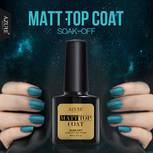 Azure 8ML Matte Top Coat Gel Nail Polish Long Lasting Matt Effect Top Coat Gel Polish Soak Off Nail Art Nail Glue Led Lamp Gel
