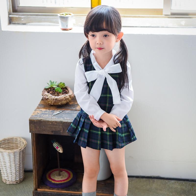 2017 new style Fashion turn down collar Long Sleeve bow plaid matchwork Autumn girl dress school dress kids dresses for girls<br><br>Aliexpress