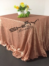 New Arrival!! Blush Pink Sequin Tablecloth 90x156inch For Wedding/Party/Birthday Events Decoration