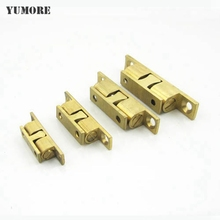 YUMORE 4Pcs 40/50/60mm Brass Double Ball Catch Cabinet Door Latch Furniture Door Stop Cabinet Touch For Drawer Wardrobe