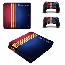 Buy Barcelona PS4 Slim Skin Sticker Sony PlayStation 4 Console 2 Controllers PS4 Slim Slim Skins Sticker Decal Vinyl for $8.99 in AliExpress store