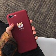 Cute dog Matte tpu phone cases iphone X 7 7Plus scrub Soft TPU case iphone 6 6s 6Plus 8 8plus back cover