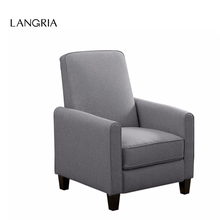 LANGRIA Push-Back Recliner Sofa Chair Lounger with Fabric Upholstery Elevating Footrest Padded Seat Pillow Top Backrest for Home