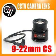 "MP HD 9-22mm 1/3"" Varifocal Auto Iris IR lens CS for Surveillance CCD CCTV Camera(China)"