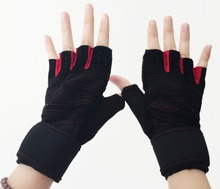 LANBAOSI New Cycling Motor Gloves Wrist Cut Training Fitness Gloves Sports Anti-Slip Warm half finger Gloves For men and women(China)