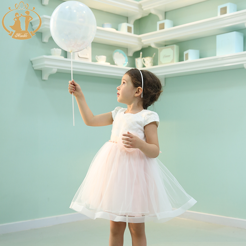 Nimble New Arrival Girl Princess Dress Embroidery Handmade flower Mesh Evening Dress for Girls<br><br>Aliexpress