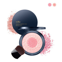 Mixiu Double Use 2 Color Modified Makeup Blush Face Makeup Cosmetic Natural Plant Extract UV Protect Cheek Color Blusher Palette