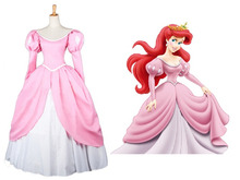 New Arrival Princess Mermaid Ariel Cosplay Dress Carnaval Fancy Dress Halloween Costumes for Women S-XL/Custom Any Size