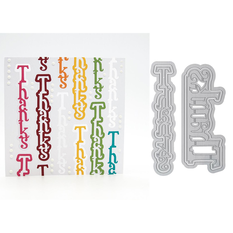 THANKS Metal Cutting Dies Stencil For DIY Scrapbooking Embossing Card Craft