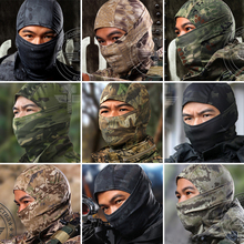 18 Color Tight Multicam CP Balaclavas Camouflage Tactical Airsoft Paintball Motorcycle Bicycle Army Helmet Full Face Mask